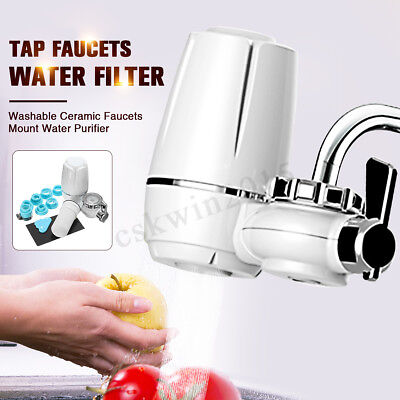 Faucet Tap Water Filter Ceramic Faucet Mount Water Purifier For Home Kitchen