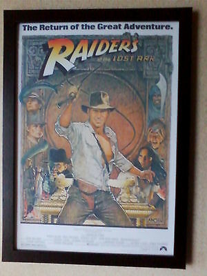 Raiders of the Lost Ark (1981) framed movie poster print