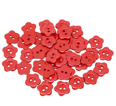 40pcs//lot PRO Flower Cute Wooden Buttons Sewing Craft NEW 20MM Button H9M1 Z6I3