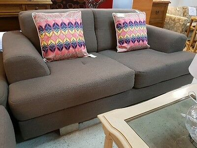 Mocha Brown 2 Seater Sofa / Couch / Lounge