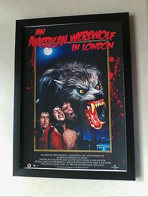 An American Werewolf in London (1981) framed movie poster print