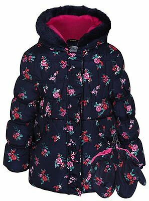 Girls Shower Resistant Padded CoatAge's 1.5-6 Years