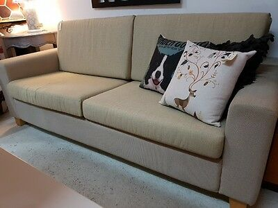 Neutral 3 Seater Sofa / Lounge / Couch