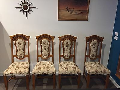 Dining Chairs X 4, Antique