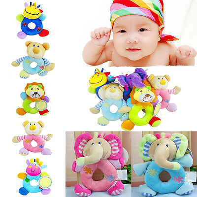 Fab Baby Kid Plush Soft Stuffed Animal Hand Bell Wrist Rattle Educational Toy