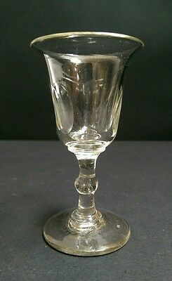 Antique Georgian Facet Cut Spirits Glass c.1800