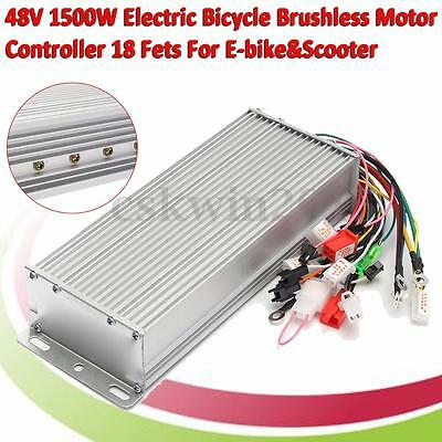 DC 48V 1500W Electric Bicycle Brushless Motor Controller For E-bike Scooter New