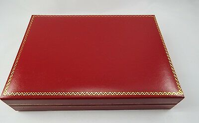Red Leatherette Jewelry Case Storage Display Organizer Necklace Gift Box