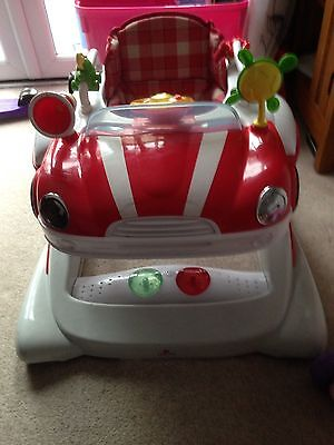Red car baby Walker - V Good Condition
