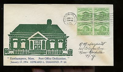 US Small Town Event Cover 1934 Easthampton, Mass Post office Dedication