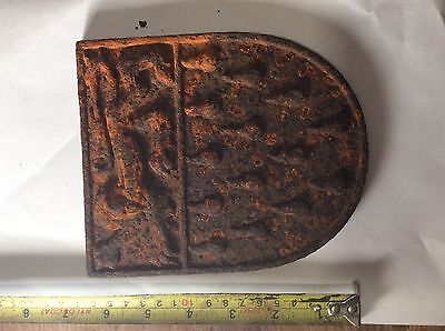 Fire back panel metal with Lion motive