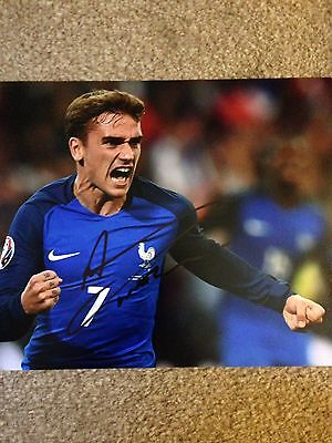 Original Hand Signed 16/17 France Picture By Antoine Griezmann, PHOTO PROOF!