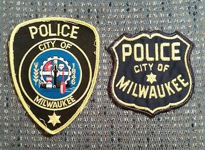 Milwaukee Police patches (2) NEW!