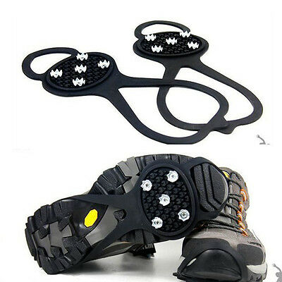 1Pair Ice Snow Anti Slip Spikes Grips Gripper Crampon Cleats For Shoes Overshoe