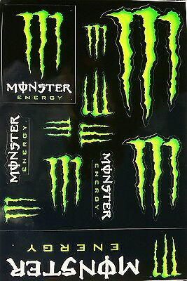 2 X Monster Energy Logo Sheets of 12 Stickers Decals