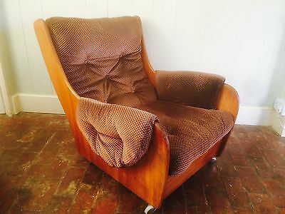 G Plan Teak Saddle Armchair Vintage Retro Mid Century CAN BE DELIVERED