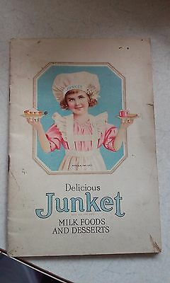 "Jello ""delicious Junket Milk Foods And Desserts"" 1921 Litho"