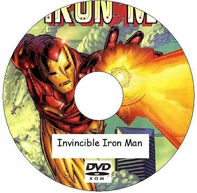 Invincible Iron Man Comic Collection 659 Issues + more on 2 DVDs 1968 - 2012
