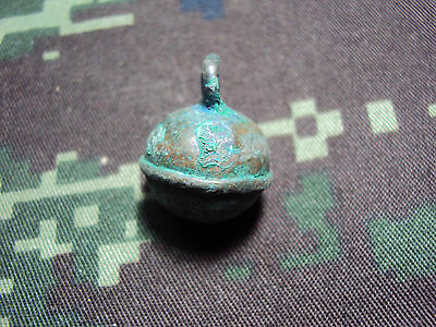 Crotal Bell Thailand Metal ancient Thailand Collectible Antique #02
