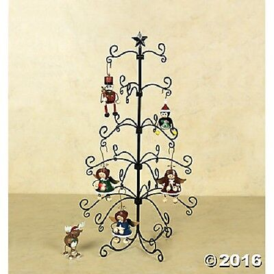 NEW Christmas 24 Inch Metal Wire Ornament Holder Tree