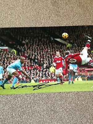 Original Hand Signed Man United Picture By Wayne Rooney, PHOTO PROOF