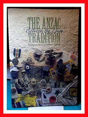 THE ANZAC TRADITION Between the Lines w/Stamps and Map - AUSTRALIA POST  1990