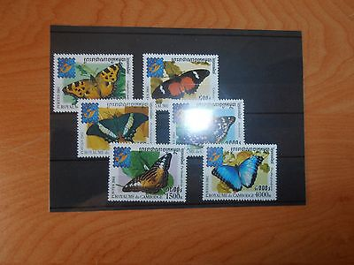 timbres thematique papillons