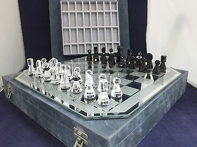 Genuine Complete Swarovski Chess Set in Case 155 753 / 155753 / 7550 432 032