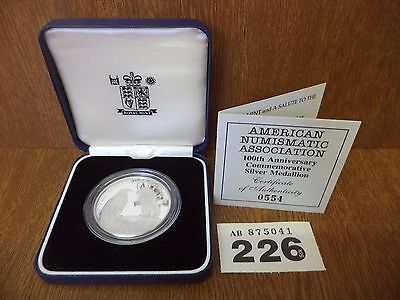 Rare 554 of 1000 Royal Mint American Numismatic Association Silver Proof Coin