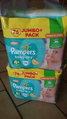 152 Couches Pampers BABY DRY taille 4 + ( 9 à 18 kg)