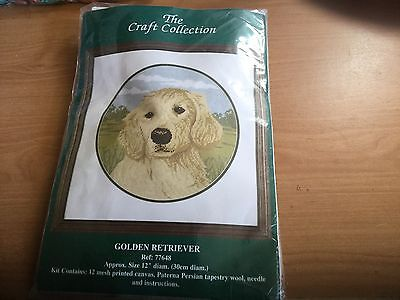 The Craft Collection Tapestry Kit. Golden Retriever