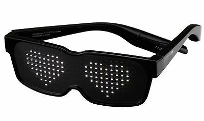 Bluetooth LED Glasses, Programmable Display, Light Up Rave Party Smart Sun Glass