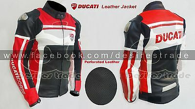 Ducati Corse Motorbike Leather Jacket/ Motorcycle Leather Jacket/ Racing Gears
