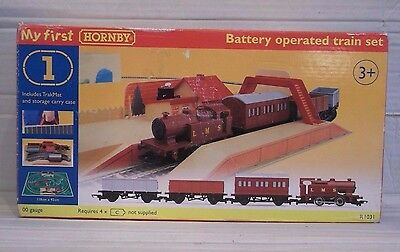 Hornby OO My First Train Set R1031 (Locomotive/Carriage/Wagon/Track) Boxed Rare