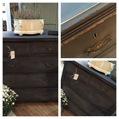 Vintage Painted Chest Of Drawers Milk Paint