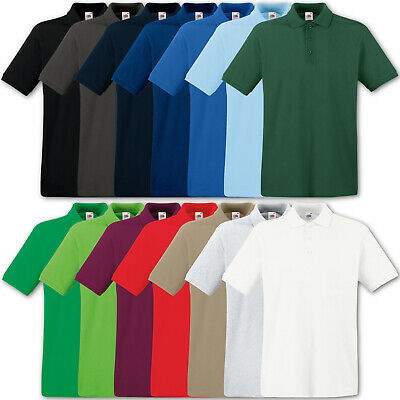 Fruit Of The Loom Poloshirt Premium Polo 100% Baumwolle Shirt - S M L Xl Xxl 3Xl
