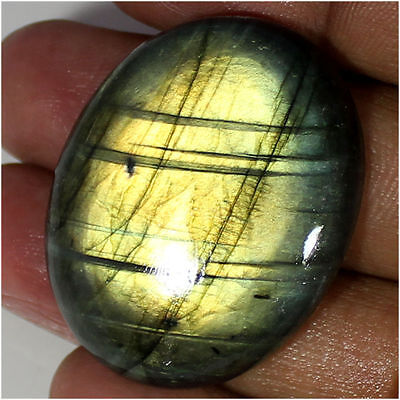 68.30 Ct 100% Natural Fire Labradorite Oval Cabochon Loose Gemstone Stone_Artt