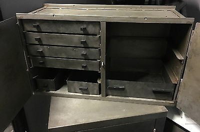 Vintage Industrial Metal Drawers Storage Tool Cabinet