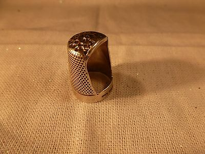 Rare Old John Sherwood Sons Sterling Silver Thimble England Open One End Size 9