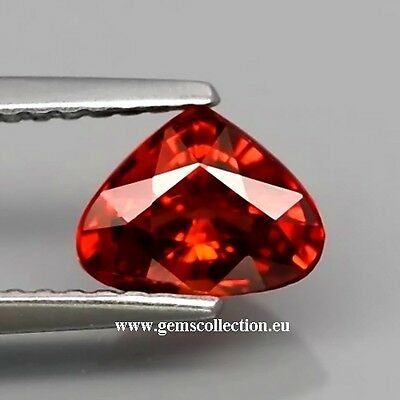 Aaa - Spessartite Garnet  Ct 1.16 Pear Cut  Origin Namibia Africa  Very Good