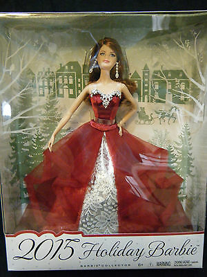 Barbie Holiday  2015  - Auburn - CHT00 (NRFB)
