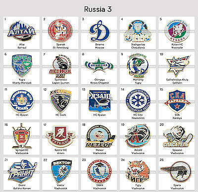 Ice Hockey Pin Badge Russia KHL VLH MHL All Clubs PART 3
