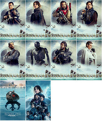 10 Rogue One: A Star Wars Story 2016 Promo Card PVC CHARACTOR Transparent CARD B