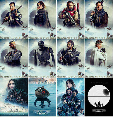12pc Rogue One: A Star Wars Story 2016 Postcard Promo Card Collector Card Z