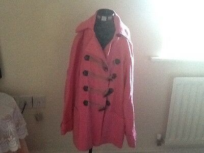 Next girls pink duffle coat with hood