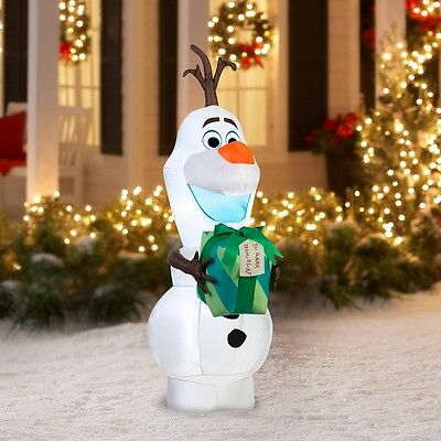 Airblown Inflatable Lighted Disney's Olaf Christmas Display Outdoor Yard Decor