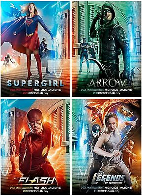 4 The Flash Supergirl Arrow The Legend 2016 Postcard Promo Card Collector Card