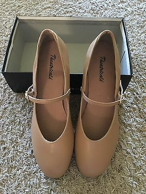 Theatricals Women's Tap Shoes, Tan, Size 10 1/2, Brand New