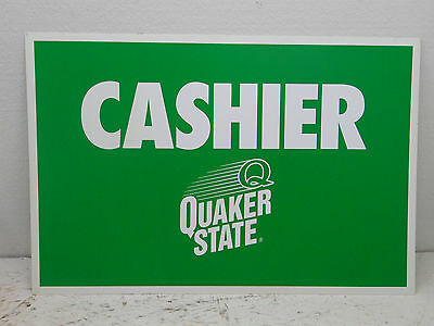 Quaker State Oil  (cashier) Sign - Metal - 1 Sided 24x16
