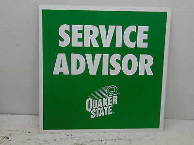 Quaker State Oil  (Service Advisor) Sign - Metal - 1 Sided 16x16